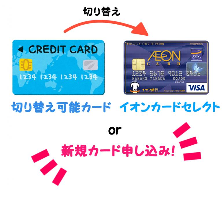 イオンカード(WAON)からイオンカードセレクトに最短で切り替える全手順